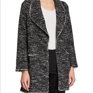 Max Studio- Tweed Frayed Duster